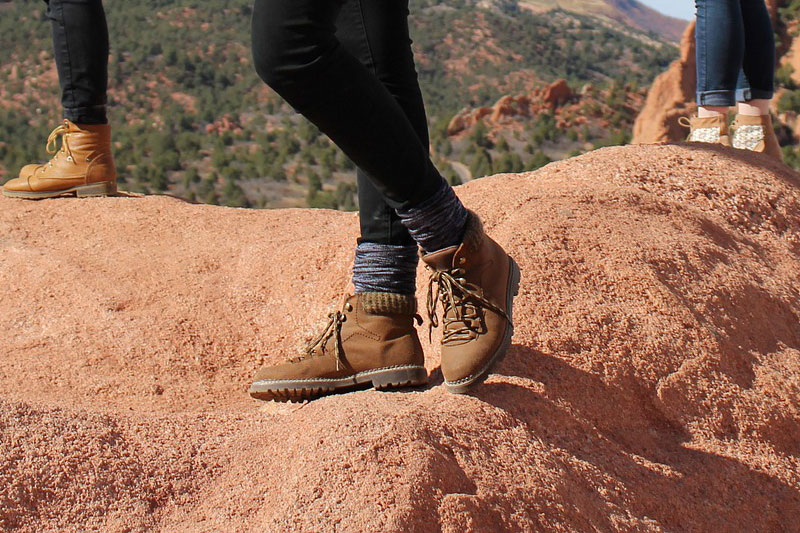 women's hiking boots and hiking socks