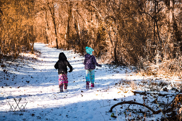 kids on snowy trail - 2 copy