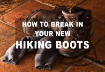 breaking in hiking boots