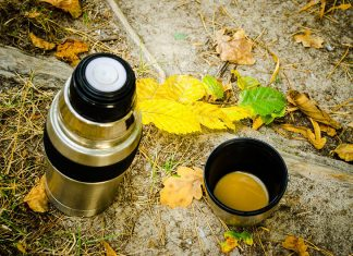 thermos outdoors on the ground